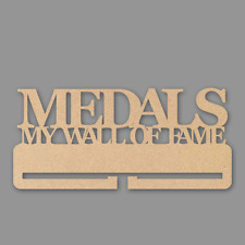 """Medals """"My Wall of Fame"""" Medal Holder - 4mm MDF Wooden Craft Blank"""