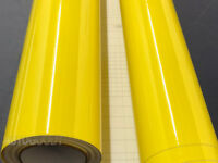 "12"" x 60"" Super Gloss Yellow Vinyl Film Wrap Sticker Air Bubble Free 1ft x 5ft"