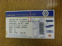 26/10/2005 Ticket: Chelsea v Charlton Athletic [Football League Cup] . Thanks fo