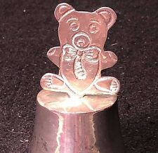 Vintage Silver Plated - Teddy Bear - Christmas Bell 3""