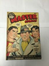 Master Comics 50 1st Radar 3.5 Very Good- Vg- Slight Water