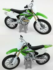 Kawasaki KXF-250 1:18 de Metal Motocross MX Modelo Juguete Moto Verde Nuevo
