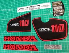 82 1982 honda CT110 110 trail 9pc Vintage graphics decals stickers kit