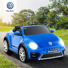12V Kids Ride on Cars Beetle Electric Double-Drive with Remote Control Mp3 Blue