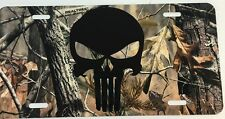 Punisher Camouflage License Plate New Car Tag Metal Camo