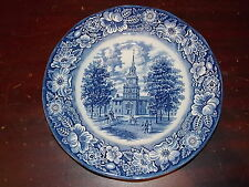 Liberty Blue Staffordshire Ironstone Independence Hall Pattern Dinner Plate