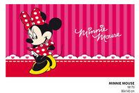 Tappeto Minnie 140x80cm Topolina Rosa Fuxia-Rosso Antiscivolo Cameretta Disney