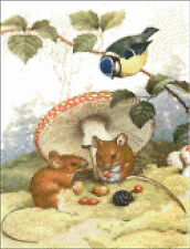 Afternoon Picnic Mouse Couple  Cross Stitch Pattern