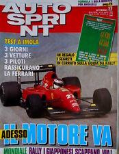Autosprint 17 1992 Nuova Minardi 192. Segreto Williams. Berger. Lotus SC.54