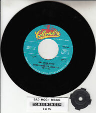 """CREEDENCE CLEARWATER REVIVAL  Bad Moon Rising & Lodi  CCR 7"""" 45 rpm record NEW"""