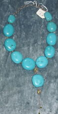 HANDCRAFTED TURQUOISE  PERIDOT NECKLACE BY ARTIST LADAN