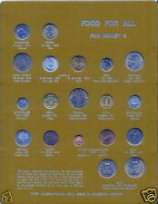FAO SET 1971-1974 19 Coins Korea & Poland BOARD #3