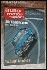 AMS Auto Motor Sport 15/69 Opel Admiral E Saab 95 Kombi Daf Mini Kombi
