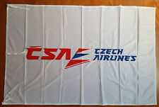 genuine airways embroided fabric flag banner CSA Czech Airlines old logo 148x95