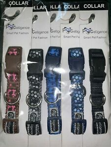 5 ASSORTED  COLLARS  SIZE SMALL,  BRAND IS PETELLIGENCE ( SEE PHOTO )