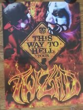 Twiztid - This Way To Hell Tour Poster 18x24 rare insane clown posse dark lotus