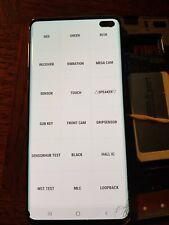 Ecran LCD SAMSUNG GALAXY S10 G973 - vitre cassée + défaut - S10-1