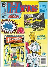 DC Comics - Heroes Weekly Comic - #3 1991 - With FREE Gift Postcards