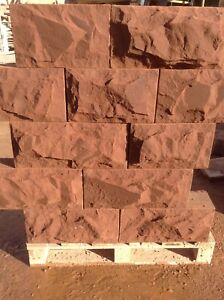 sandstone walling pitched faced random or coursed