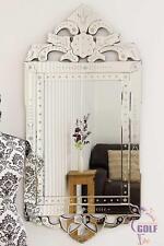 Antique Style Detailed Venetian Wall Mirror 4Ft X 1Ft11 (122cm X 59cm)
