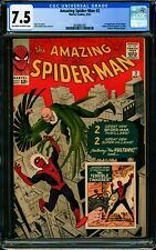 AMAZING SPIDER-MAN #2 CGC 7.5 VF- The First Appearance of The Vulture!