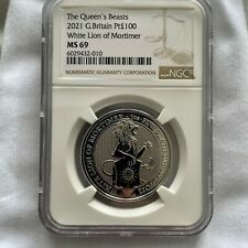 More details for 1oz platinum bullion coin queens beasts 2021 white lion ms69 one ounce invest!