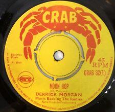 "DERRICK MORGAN ~ Moon Hop / REGGAEITES  ~ Harris Wheel  CRAB 32 7"" NEAR MINT"