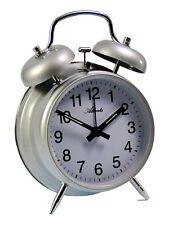 Atlanta meccanico orologio sveglia viaggio argento cassa in metallo 1053/19