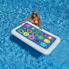 Smart Phone Giant Pool Float Raft Swimline 90636 Water Beach Inflatable