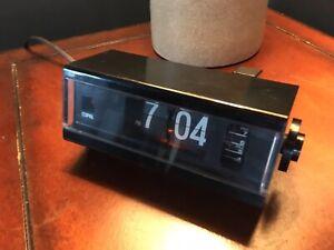 vintage copal japan black flip alarm clock model 227
