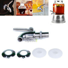Stainless Steel Beverage Dispenser Replacement Faucet Spigot Fits 5/8
