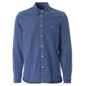 Lacoste Snap Button Men's Denim Shirt - Blue LARGE BNWT