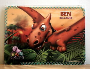 Pack of 2 Dinosaurus Dinosaur 3D Personalised Place Placemat - Ben