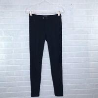 Vince Womens Size 2 Black Ponte Knit Riding Leggings Skinny Pants Seamed