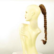 Hairpiece ponytail plait 19.69 long dark blond copper 4/g27
