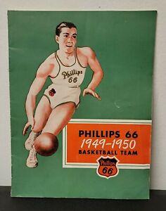 Rare Vintage 1949-50 Phillips 66 Basketball Team Booklet
