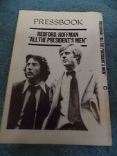 ALL THE PRESIDENT'S MEN(1976)ROBERT REDFORD DUSTIN HOFFMAN ORIG PRESSBOOK