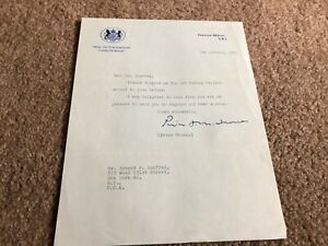 #MISC3711 - SIGNED LETTER - 1961 PETER THOMAS - UK PARLIAMENT