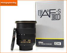 Nikon AF-S 12-24mm F4 G ED Nikkor Wide Angle Lens Free UK Post