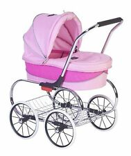 Classic Bassinet Doll Stroller by Valco Baby Pink NO TAX