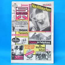 Sport und Technik 1/1990 DDR GST NVA S & T Plauen Neonazis Nachttauchen Panama K