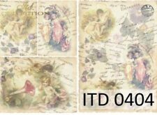 A4 Decoupage Paper/ Fairies / Angels / Scrapbooking / Card Making / Classic