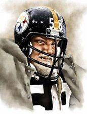 Jack Lambert Pittsburgh Steelers 8 X 10 Giclee by James Byrne Series 4