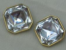 Crystal Glass Earring Vintage Costume Jewellery (1960s)