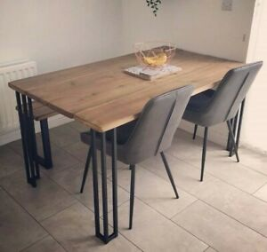 Industrial Style Dining Table And Bench, kitchen table, Dinning table.