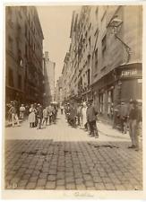 France, Lyon, rue Childebert Vintage albumen print Tirage albuminé  17x22