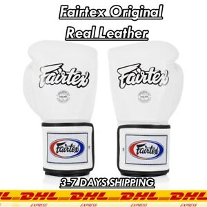 Super Sparring Gloves - Locked Thumb Real Leather Boxing Gloves Fairtex Original