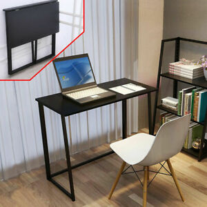 Corner Foldable Computer Desk Folding Desk Laptop PC Table Study Gaming - Black