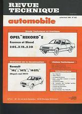 (13A)REVUE TECHNIQUE AUTOMOBILE OPEL REKORD / RENAULT 14