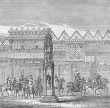 CHEAPSIDE CROSS. View in 1547. Edward VI's coronation procession. London c1880